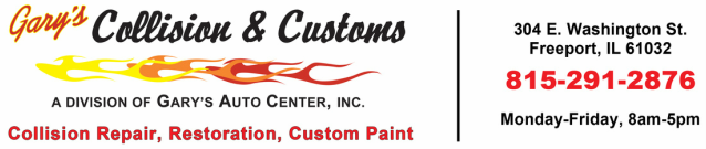 Gary's Collision & Customs - For all your auto body needs!